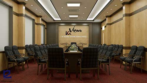 Sạch sẽ và gọn gàng cũng là tiêu chuẩn thiết kế nội thất phòng họp