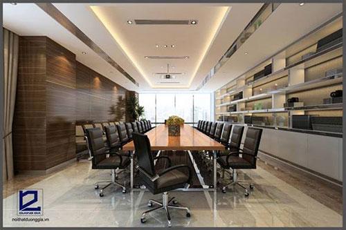 Tiêu chuẩn thiết kế phòng họp nhỏ cần phải quảng bá được hình ảnh công ty