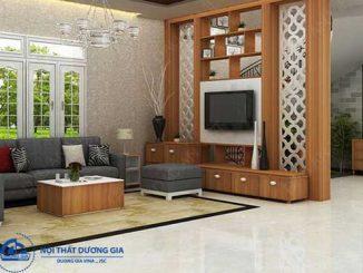 Cách trang trí vách ngăn phòng khách và cầu thang