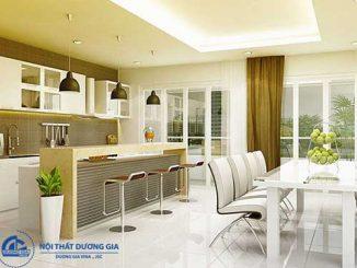 Không gian bếp đẹp cho nhà ống phong cách hiện đại