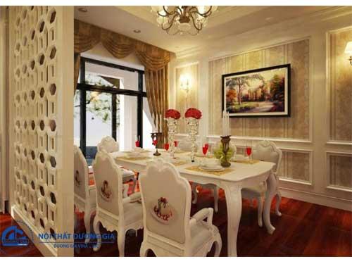Không gian phòng bếp đẹp phong cách cổ điển