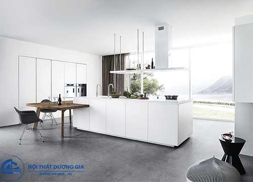 Phòng bếp đẹp mang phong cách tối giản