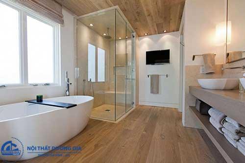 Trang trí phòng tắm nhỏ hẹp phải chú trọng bài trí nội thất thông minh