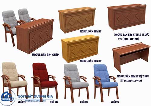 Báo giá bàn ghế gỗ hội trường công khai, minh bạch trong năm 2018