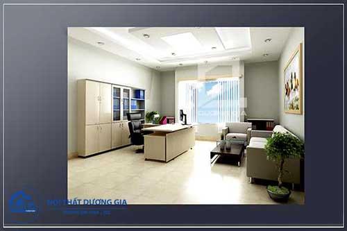 Phòng giám đốc đẹp, diện tích nhỏ GD-DG17 view 2