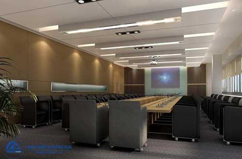 Thiết kế lắp đặt phòng họp trực tuyến phải chú ý đến đồ nội thất