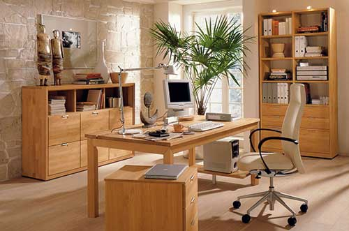 Chú ý đến mảng cây xanh trong thiết kế phòng làm việc nhỏ đẹp tại nhà