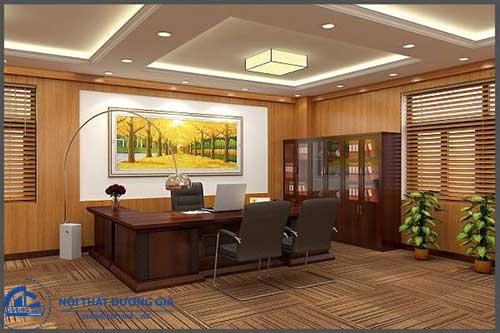 Thiết kế phòng tổng Giám đốc thể hiện cá tính, sự uy quyền của chủ nhân