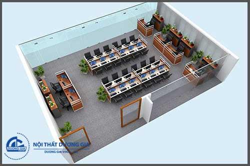 Mẫu thiết kế văn phòng làm việc hiện đại VP-DG15
