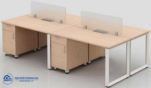 Mẫu bàn làm việc văn phòng giá rẻ, tiện nghi HRMD08