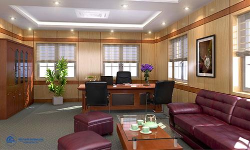 Trang trí nội thất phòng Giám đốc đẹp bằng tranh ảnh, cây xanh