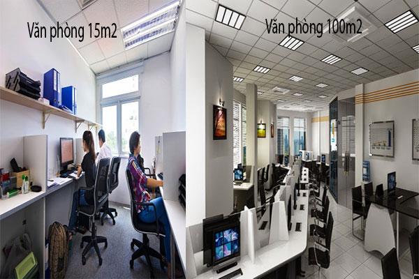 Tổng quan về văn phòng rộng 15m2 và văn phòng làm việc rộng 100m2