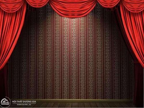 Phông rèm giúp sân khấu hội trường thẩm mỹ, ấn tượng