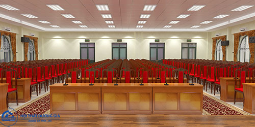 Mẫu bàn ghế hội trường lịch sự:bànBHT12DV1 - ghế GHT02