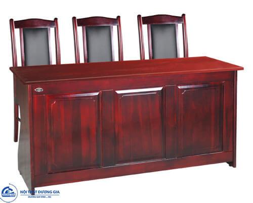 Bộ bàn ghế hội trường gỗ tự nhiên sang trọng: bàn BHT12DH2 - ghế GHT11