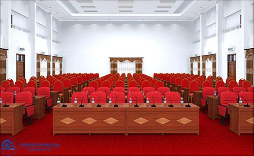 Bộ bàn ghế hội trường Hà Nội đẹp: bàn BHT12DV2 - ghế TC314/MC22