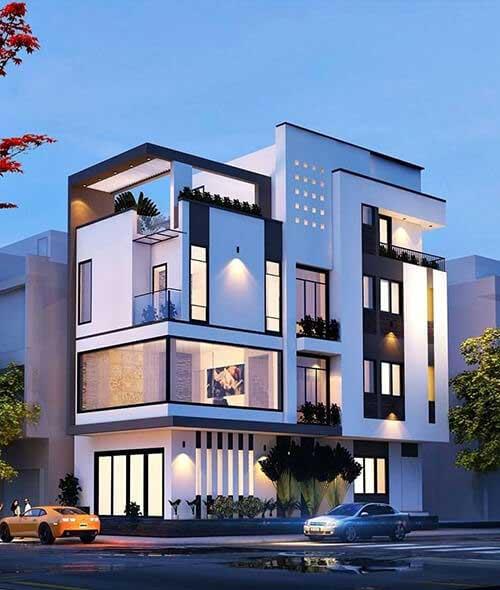 Chú ý tới màu sắc khi thiết kế nhà ở kiêm văn phòng