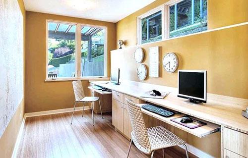 Bố trí văn phòng làm việc nhỏ với theo kích thước, màu sắc