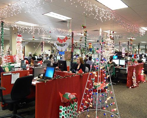 Trang trí noel văn phòng công ty thể hiện tầm vóc của đơn vị