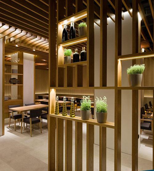 Vách ngăn gỗ hiện đại