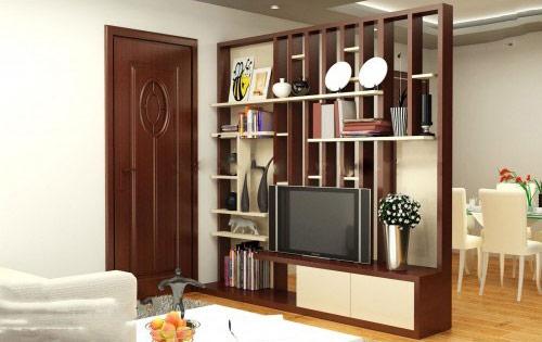 Vách gỗ tiện nghi cho phòng khách