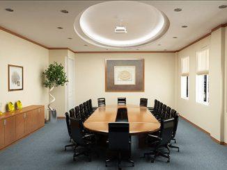 Đây là cách được ưa chuộng nhất trong các kiểu setup phòng họp