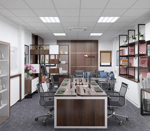 Màu sắc trong thiết kế văn phòng 60m2