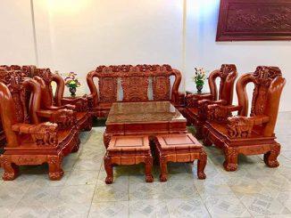 Lựa chọn nội thất phòng khách bàn ghế gỗ cần chú ý tới điều gì?