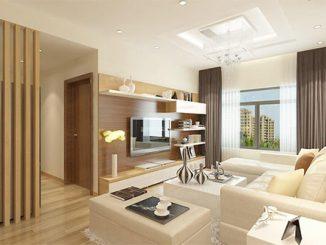 Công ty thiết kế nội thất phòng khách chung cư đơn giản chuyên nghiệp