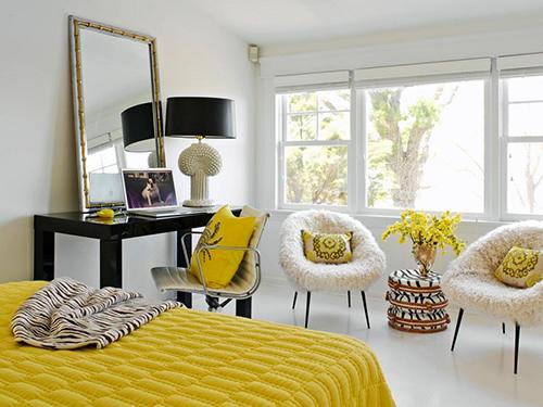 Phòng ngủ thiết kế nhẹ nhàng