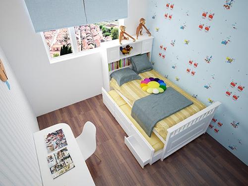Phòng ngủ nhỏ ấn tượng