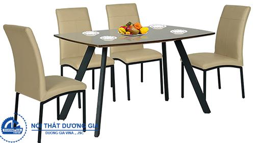 Bàn ghế ăn khung thép Hòa Phát B50 + G50