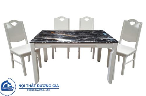 Bộ bàn ghế phòng ăn hiện đại HGB65A + HGG65