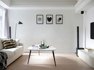 Đơn vị thiết kế, thi công nội thất phòng khách tối giản uy tín tại Hà Nội